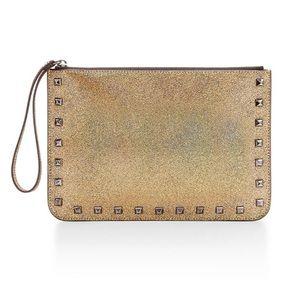 Rebecca Minkoff Handbags - Gold Metallic Large Kerry Pouch Wristlet