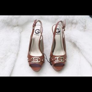G by Guess Shoes - GUESS Peep toe back strap heels