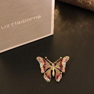 Liz Claiborne Jewelry - Liz Claiborne Butterfly brooch