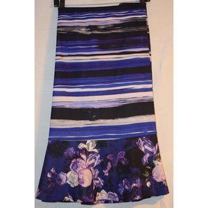 Mixed Print Flounce Skirt
