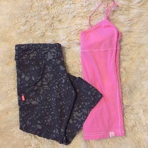 PINK Victoria's Secret Pants - Bundle of capris and tank top