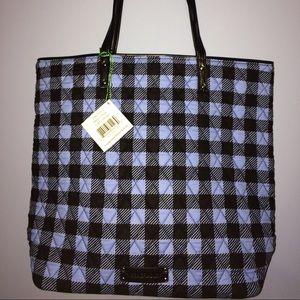 NWT Vera Bradley day tote alpine check purse