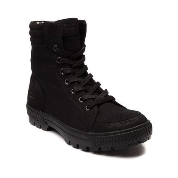 Clarckson Canvas Combat Boot Blackmono