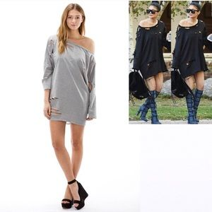 The Blossom Apparel Sweaters - 🆕JUST IN! Destroyed T-SHIRT SWEATER DRESS GREY!