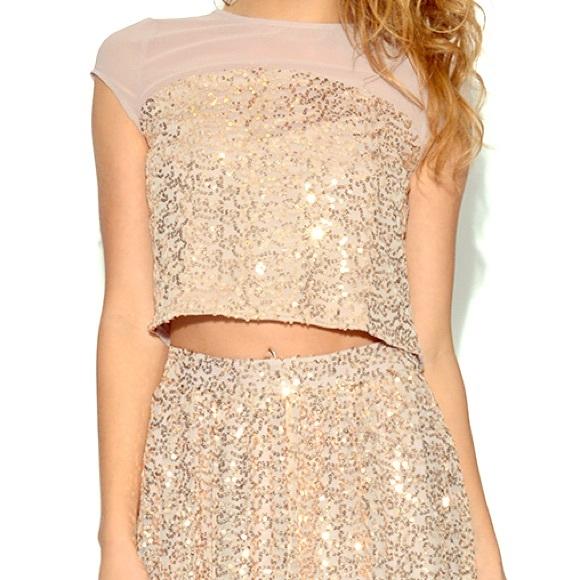 60% off Little Mistress Dresses & Skirts - Little Mistress gold ...
