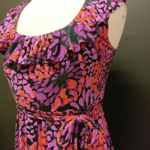 New York & Company ruffle dress w/ waist tie CUTE!