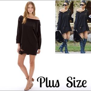 The Blossom Apparel Sweaters - 🆕JUST IN! Destroyed T-SHIRT SWEATER DRESS IN BLK!