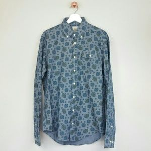 Gant Other - GANT printed chambray oxford shirt