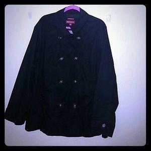 Merona Black Pea Jacket