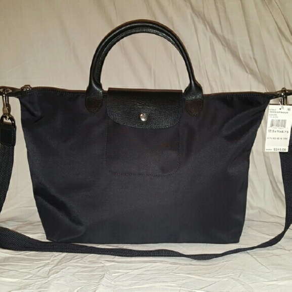 New Longchamp Black Le Pliage NEO Tote Handbag d2bd5dfaf8b49