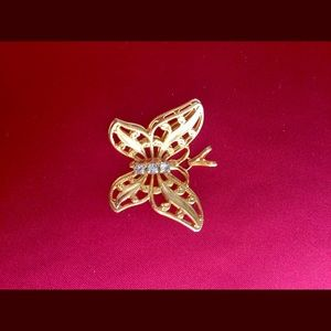 Butterfly 3D Gold Necklace Pendant (No Chain)