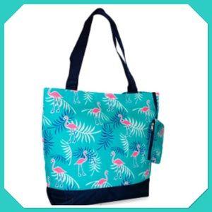 🌸💠Canvas Tote w/ coin purse