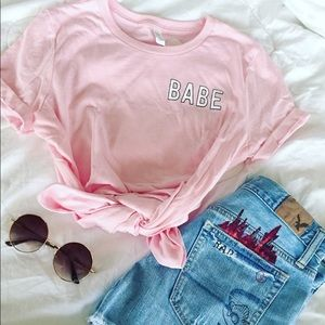 Friday Apparel Tops - Babe Graphic Tee