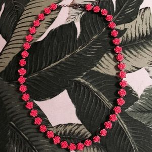 H&M Neon Rose Necklace