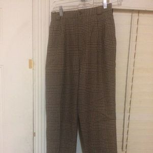 Vintage Tweed Brown High Waisted Pants