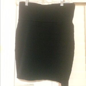 Black Bodycon Bandage Skirt