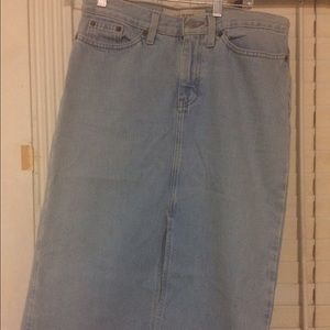 Vintage Gap Denim Jean Pencil Skirt
