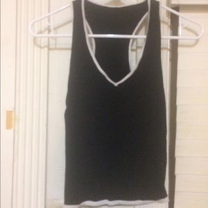 Vintage Black and White Racerback Tank