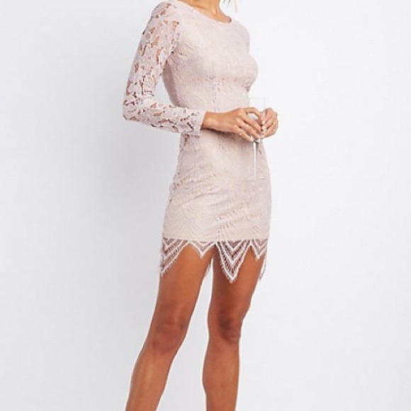 ce010741374a Charlotte Russe Dresses   Skirts - long sleeve lace bodycon dress Charlotte  Russe XS