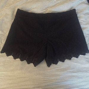 Anthropologie Pants - Lace shorts with scalloped edges
