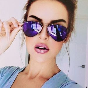 c584e908f545 Ray-Ban Accessories - Ray-Ban RB3025 Aviator Flash Lenses -Violet Mirror