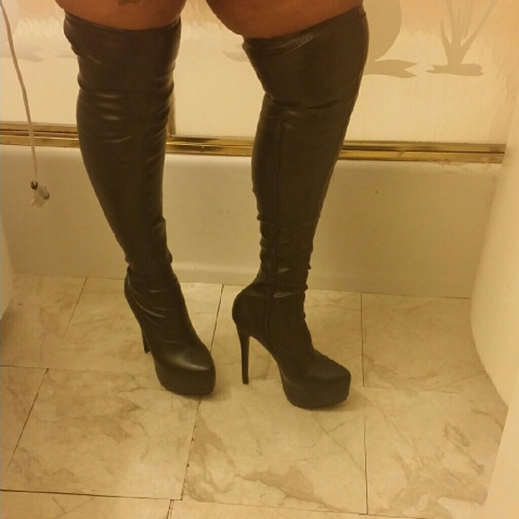 c8cbc79b20d Publicite Shoes | Brand New Sexy Knee Length Boots 6 Inch Heels ...
