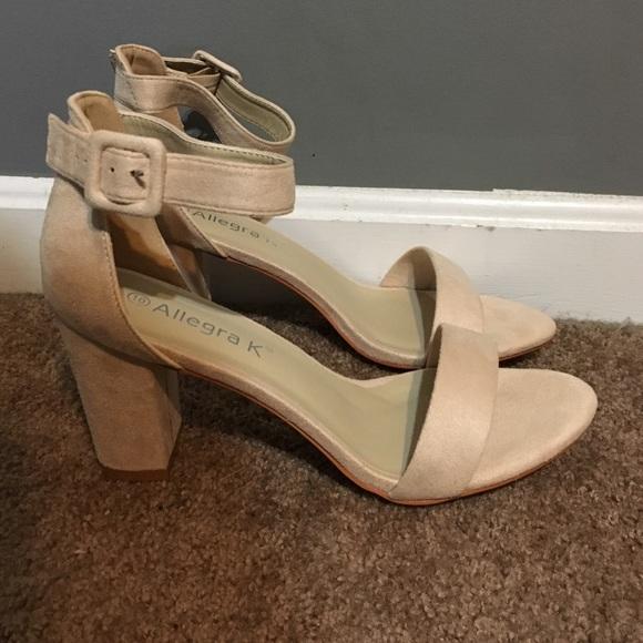 b0ebd7f44e Allegra K Shoes   Nwt Nude Block Heel Sandals   Poshmark