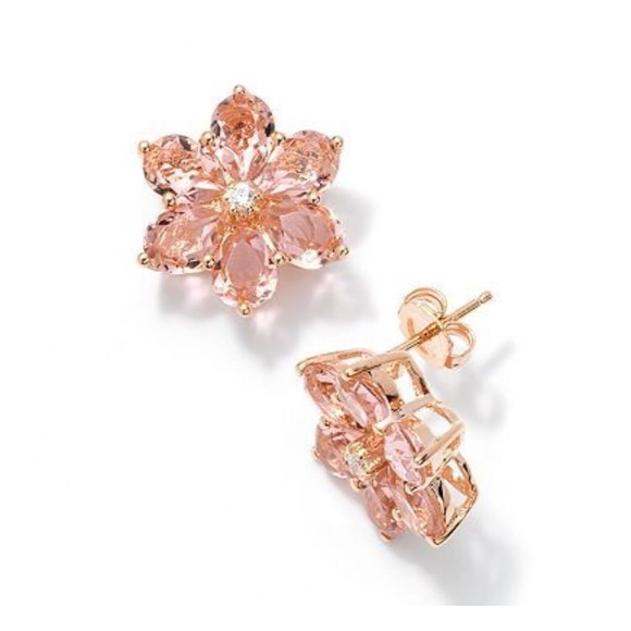 944bb7f1ab4 kate spade Jewelry - Vera Wang Rose Gold Flower Earrings