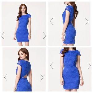 bebe Dresses & Skirts - ⚡️SALE NWT Bebe Cap Slv Lace Dress w/ Back Keyhole