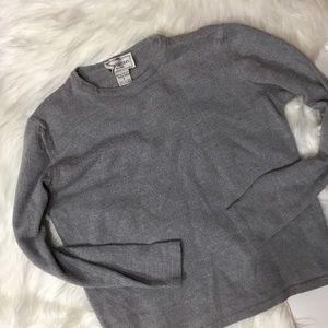 henri bendel Sweaters - Henri Bendel Merino Wool Gray basic sweater