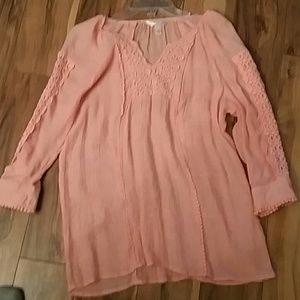 Boutique coral blouse