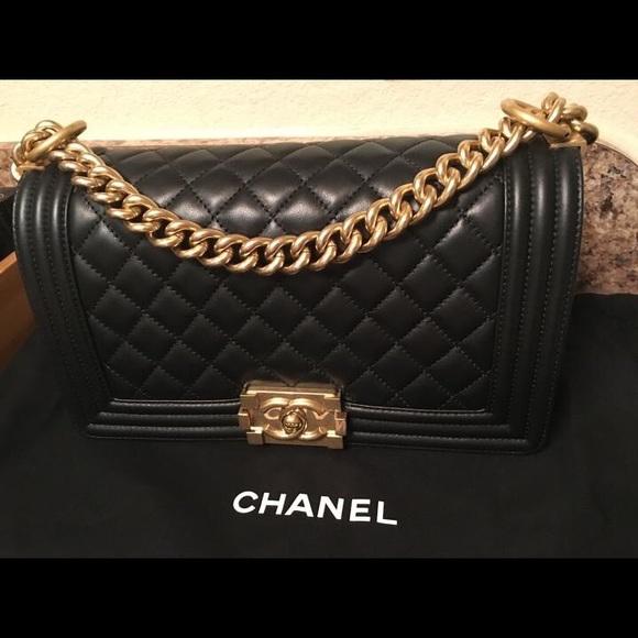 73340ec6bba3 CHANEL Handbags - Chanel Boy Bag with gold hardware