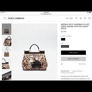 a81cdc8b018 Dolce & Gabbana Bags | Dolce Gabbana Sicily Bag Medium | Poshmark