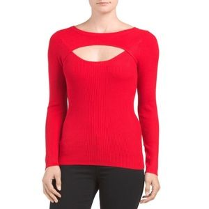 Carmen Marc Valvo Tops - ✨NWT✨ Carmen Marc Valvo Red Sweater Top