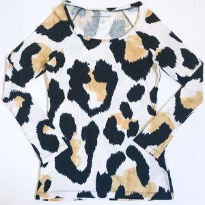 Norma Kamali Tops - NormaKamali 100% Organic Cotton Animal Print Shirt