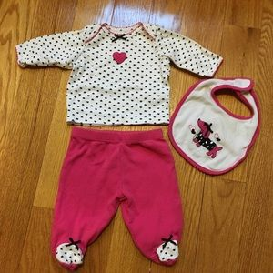 Little Me Other - SALE Puppy Footed Pants Set for Newborn