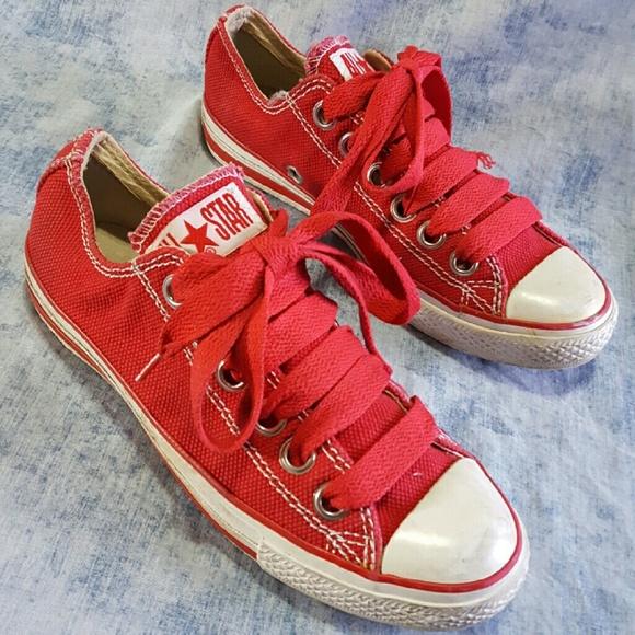 Converse Shoes - Converse RED Big Laces Eyelets M 7 W 9 Love Chucks 3c5e2a80fc