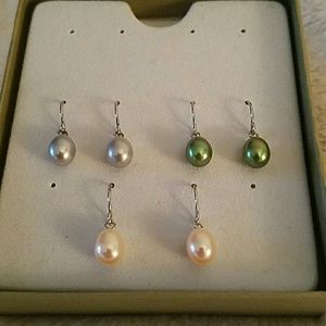 Honora Jewelry - Honora pearl earrings on silver wires
