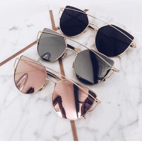hwl boutique Accessories - Fashion Rosegold Sunglasses