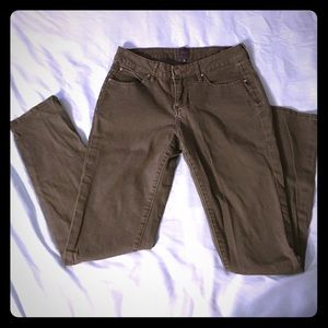 Jag Jeans Denim - Olive colored skinny jeans. Size 2
