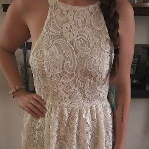 J.Crew Factory Dresses & Skirts - White lace overlay midi dress