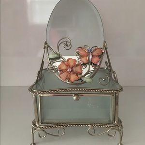 Jewelry Trinket Holder with Mirror