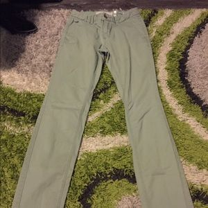 H&M light olive green work pants