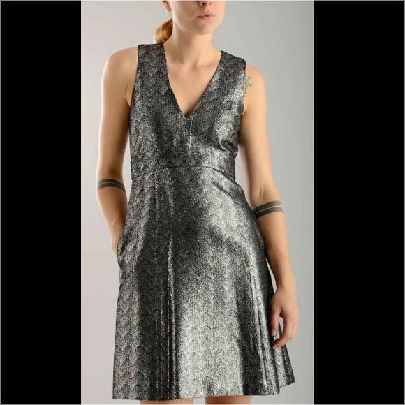 MICHAEL Michael Kors Dresses & Skirts | Michael Kors Black Metallic ...