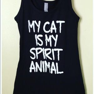 Tops - Cat tank top