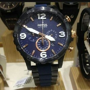fossil Other - NWT fossil Chronograph blue dial watch