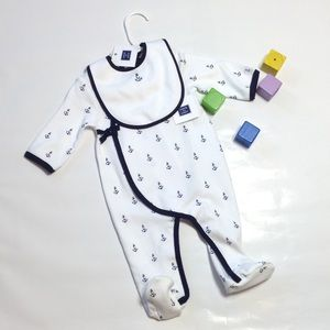 Janie and Jack Other - Janie and Jack footed onesie with bib