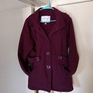 Maurice's wine hooded jacket