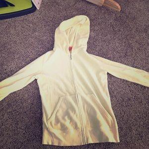 Juicy couture yellow hoodie. 3/4 sleeves