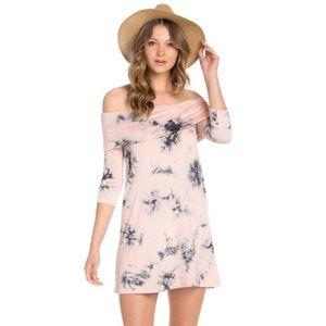 The Blossom Apparel Dresses & Skirts - 🆕 HOST PICK! Tie dye off the shoulder dress! 💕